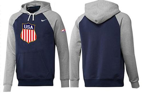 Olympic Team USA Pullover Hoodie Dark Blue & Grey