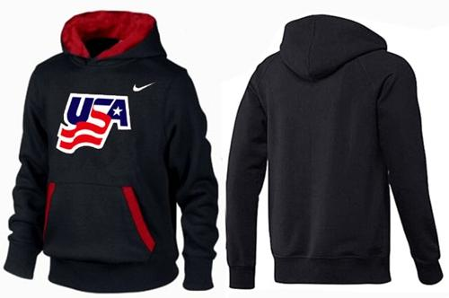 Olympic Team USA Pullover Hoodie Black/Red