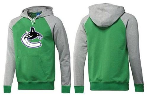 Vancouver Canucks Pullover Hoodie Green & Grey