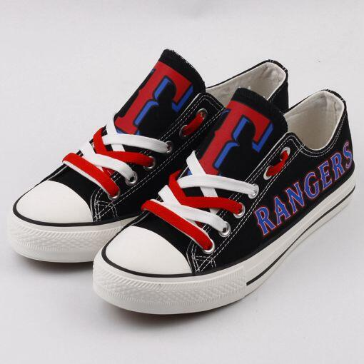 Women's and Youth Texas Rangers Repeat Print Low Top Sneakers 001