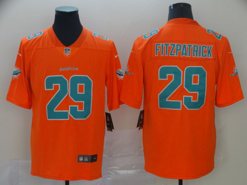 Men's Miami Dolphins #29 Minkah Fitzpatrick Orange Inverted Legend Stitched NFL Jersey