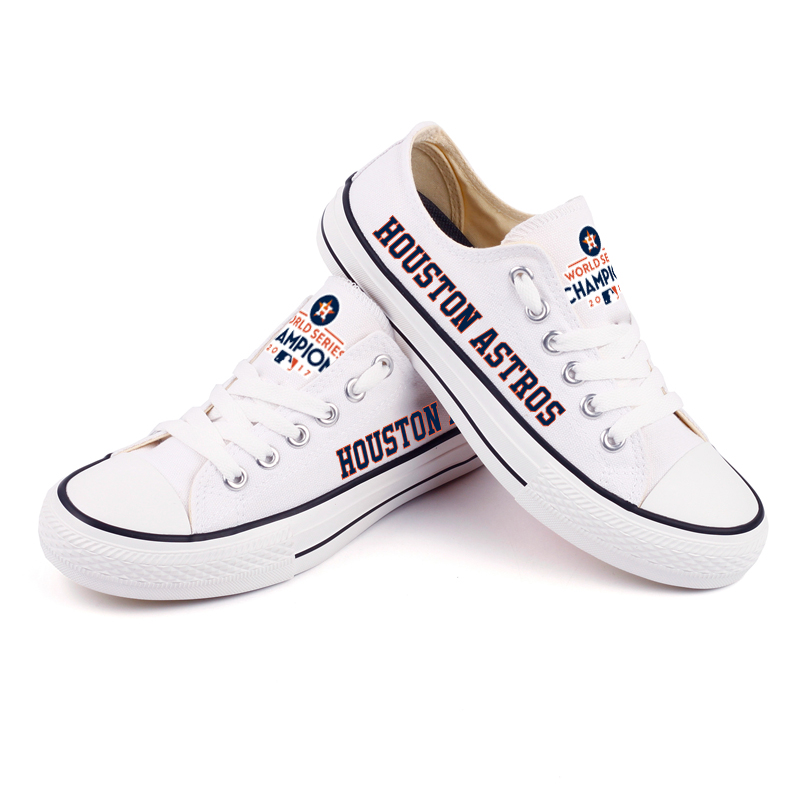 Women's Houston Astros Repeat Print Low Top Sneakers 008