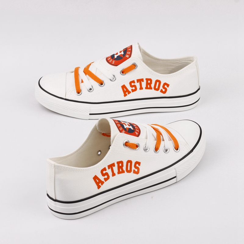 Women's Houston Astros Repeat Print Low Top Sneakers 002