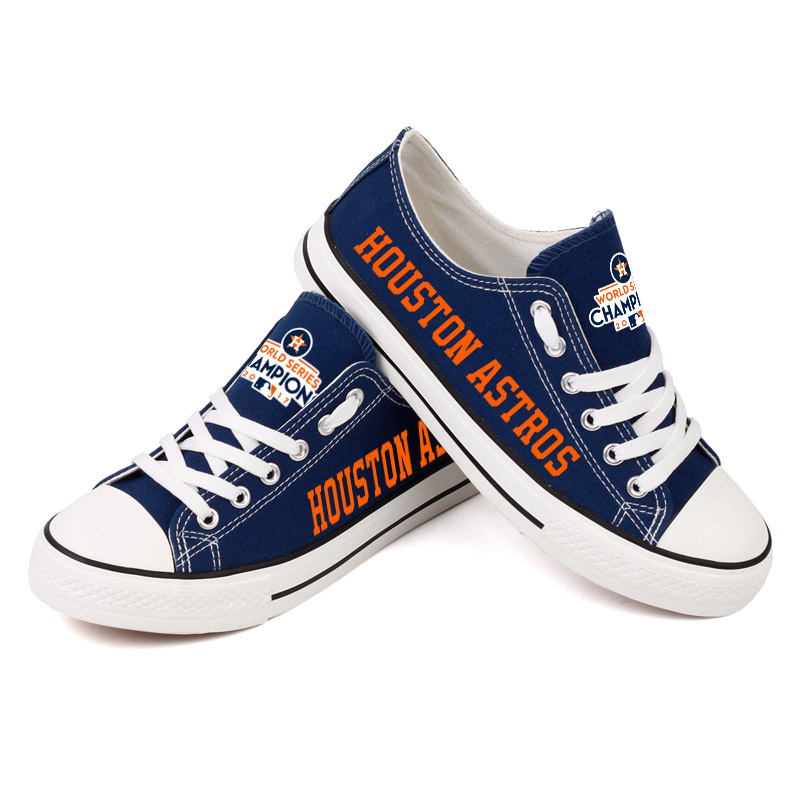Women's Houston Astros Repeat Print Low Top Sneakers 007