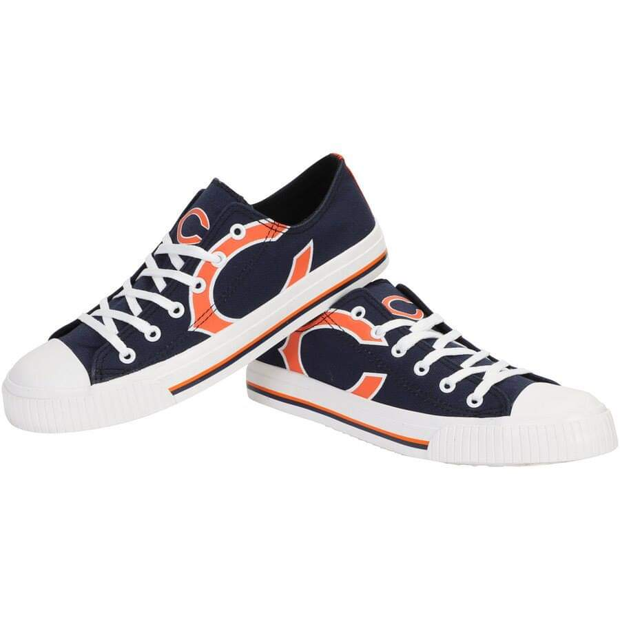 Women's NFL Chicago Bears Repeat Print Low Top Sneakers 004