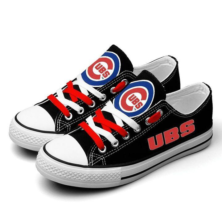 Women's Chicago Cubs Repeat Print Low Top Sneakers 008