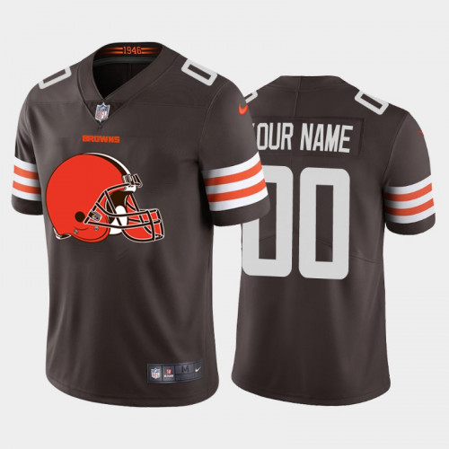 Men's Cleveland Browns ACTIVE PLAYER 2020 New Brown Team Big Logo Limited Stitched Jersey