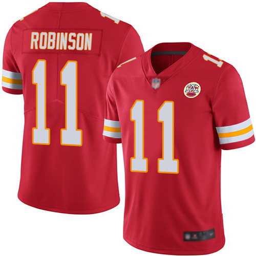 Men's Kansas City Chiefs #11 Demarcus Robinson Red Vapor Untouchable Limited Stitched NFL Jersey