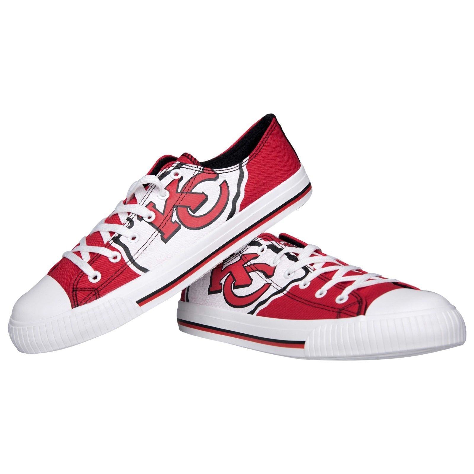 Women's NFL Kansas City Chiefs Repeat Print Low Top Sneakers 008