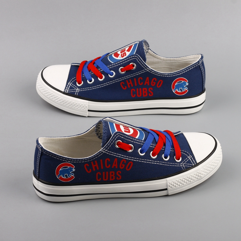 Women's Chicago Cubs Repeat Print Low Top Sneakers 002