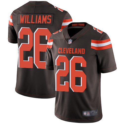 Men's Cleveland Browns #26 Greedy Williams Brown Vapor Untouchable Limited Stitched NFL Jersey