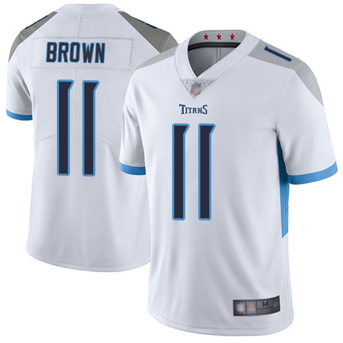 Men's Tennessee Titans #11 A.J. Brown What Vapor Untouchable Limited Stitched Jersey