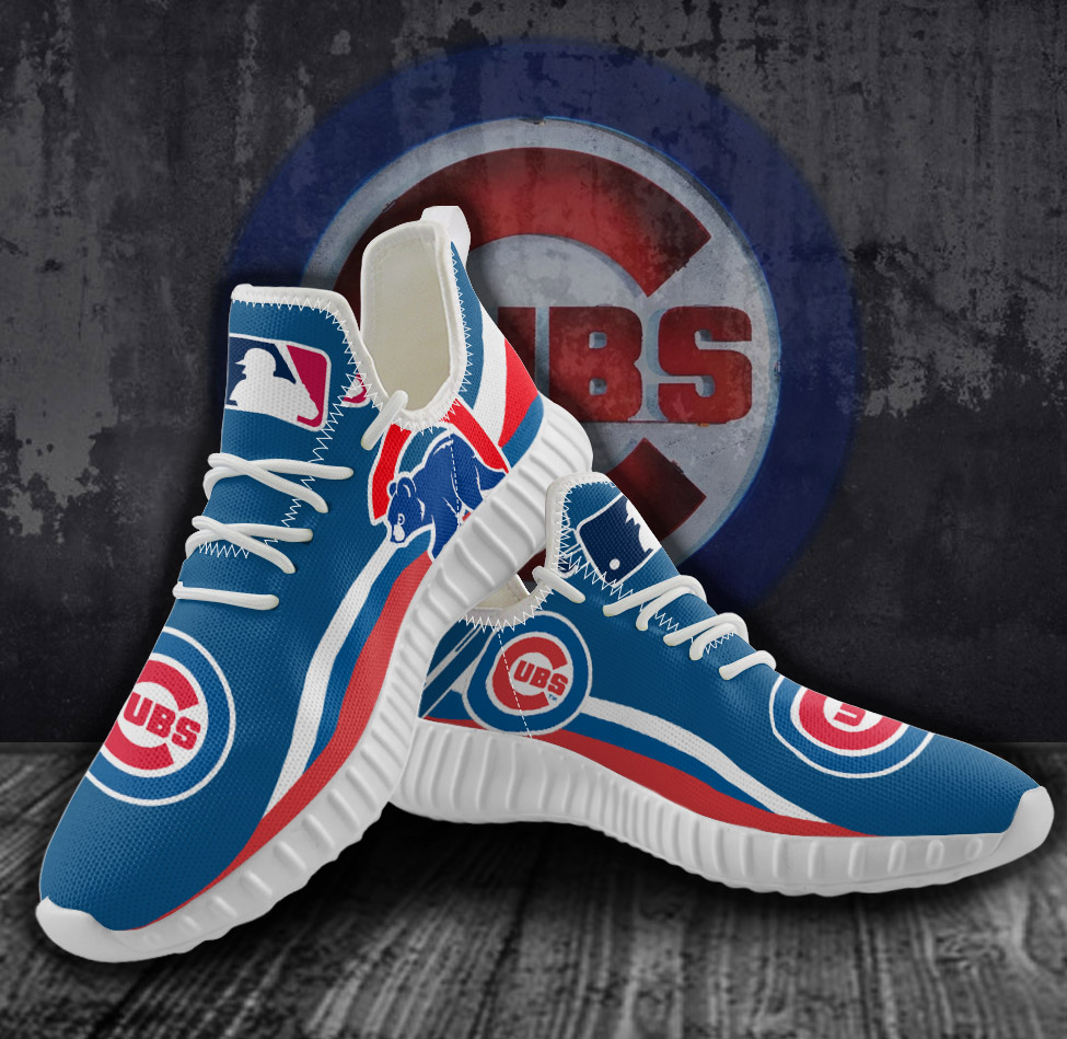 Men's MLB Chicago Cubs Mesh Knit Sneakers/Shoes 005