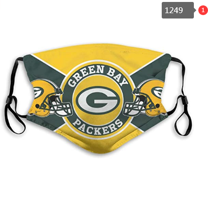 Green Bay Packers Face Mask 013 Filter Pm2.5 (Pls check description for details)