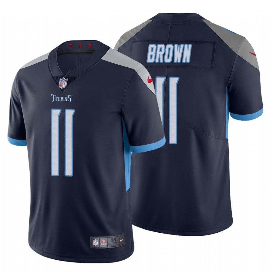 Men's Tennessee Titans #11 A.J. Brown Navy Vapor Untouchable Limited Stitched Jersey