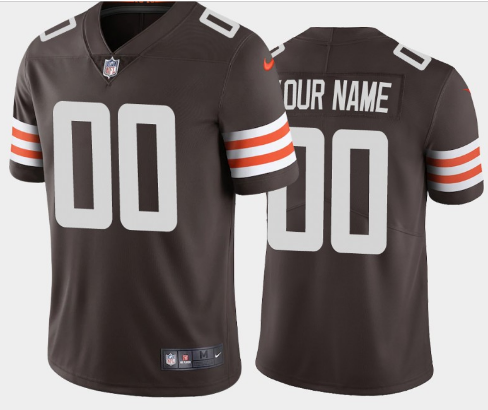 Men's Cleveland Browns ACTIVE PLAYER 2020 New Brown Vapor Untouchable Limited Stitched NFL Jersey