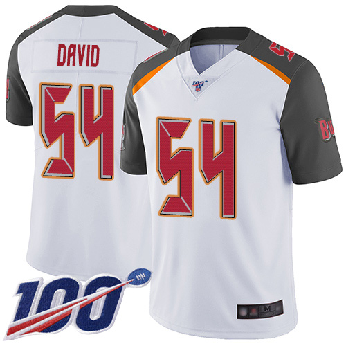 Men's Tampa Bay Buccaneers #54 Lavonte David White 2019 100th Season Vapor Untouchable Limited Stitched NFL Jersey