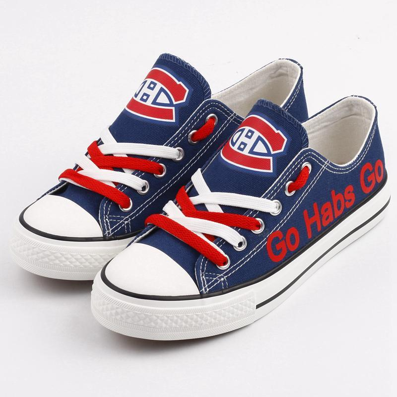 Women's Montreal Canadiens Repeat Print Low Top Sneakers 001