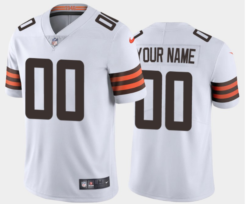 Men's Cleveland Browns ACTIVE PLAYER 2020 New White Vapor Untouchable Limited Stitched NFL Jersey