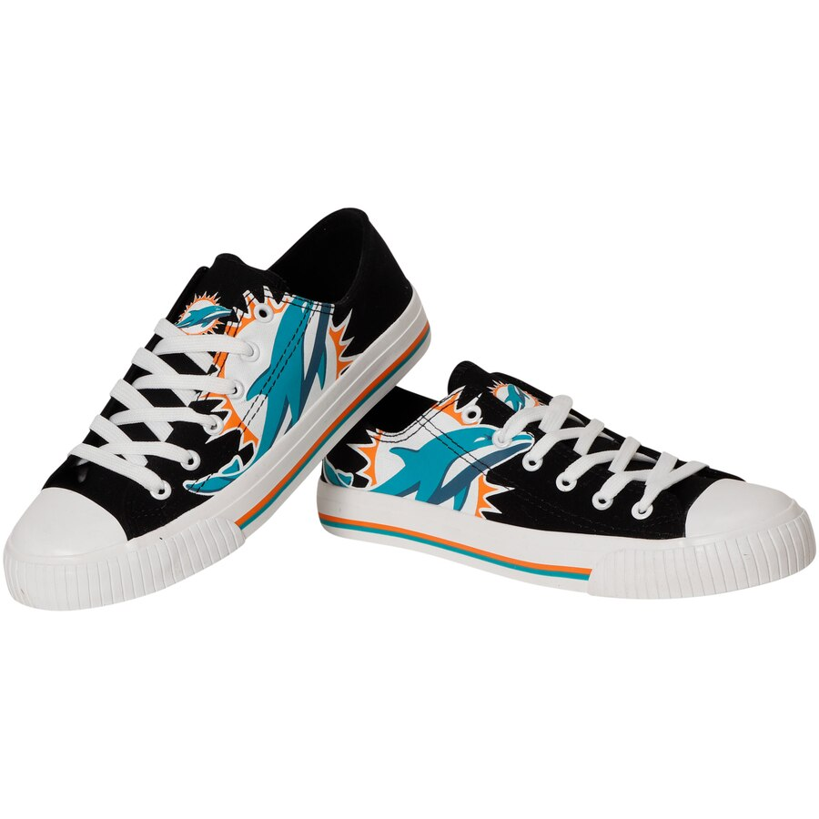Women's NFL Miami Dolphins Repeat Print Low Top Sneakers 007