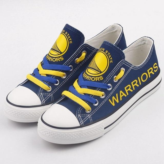 Women's NBA Golden State Warriors Repeat Print Low Top Sneakers 001