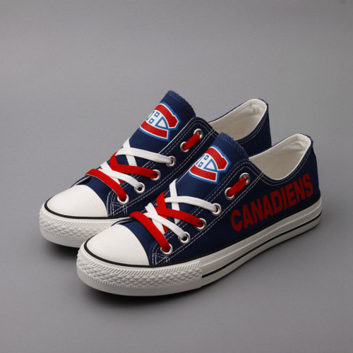 Women's Montreal Canadiens Repeat Print Low Top Sneakers 002