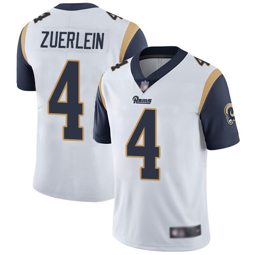 Men's Los Angeles Rams #4 Greg Zuerlein White Vapor Untouchable Limited Stitched NFL Jersey