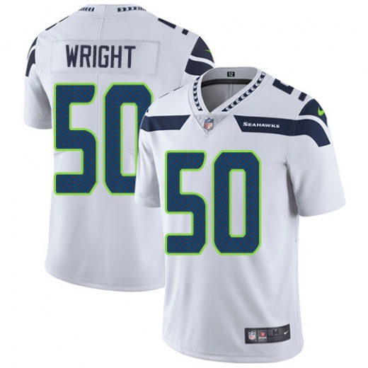 Men's Seattle Seahawks #50 K.J. Wright White Vapor Untouchable Limited Stitched NFL Jersey