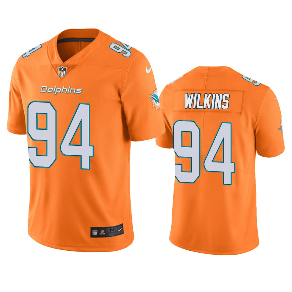 Men's Miami Dolphins #94 Christian Wilkins Orange Color Rush Limited Stitched NFL Jersey