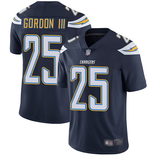 Men's Los Angeles Chargers #25 Melvin Gordon Navy Vapor Untouchable Limited Stitched NFL Jersey