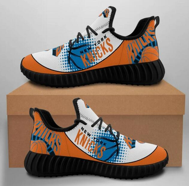 Men's New York Knicks Mesh Knit Sneakers/Shoes 002