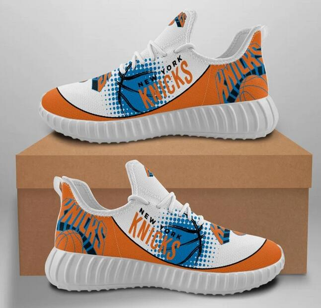 Men's New York Knicks Mesh Knit Sneakers/Shoes 003