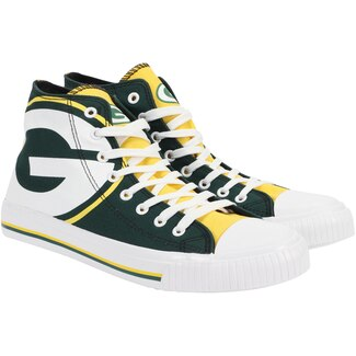 Women's NFL Green Bay Packers Repeat Print High Top Sneakers 018