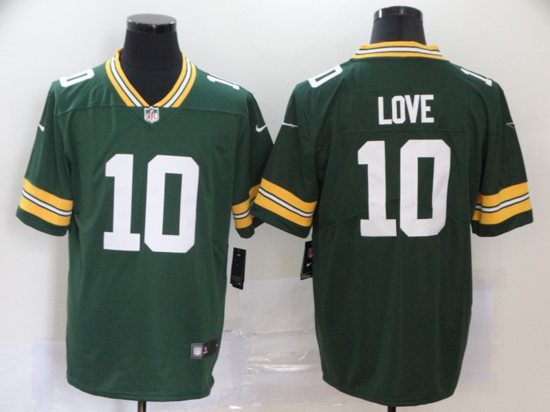 Men's Green Bay Packers #10 Jordan Love Green Vapor Untouchable Limited Stitched NFL Jersey