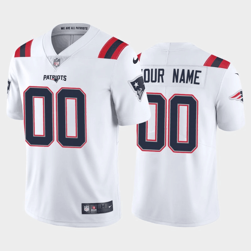 Men's New England Patriots New White ACTIVE PLAYER Vapor Untouchable Limited Stitched Jersey