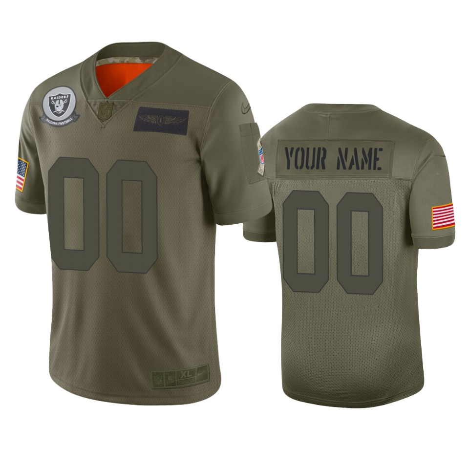 Youth Oakland Raiders ACTIVE PLAYER Custom Camo Salute To Service Stitched NFL Jersey