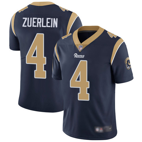 Men's Los Angeles Rams #4 Greg Zuerlein Navy Vapor Untouchable Limited Stitched NFL Jersey