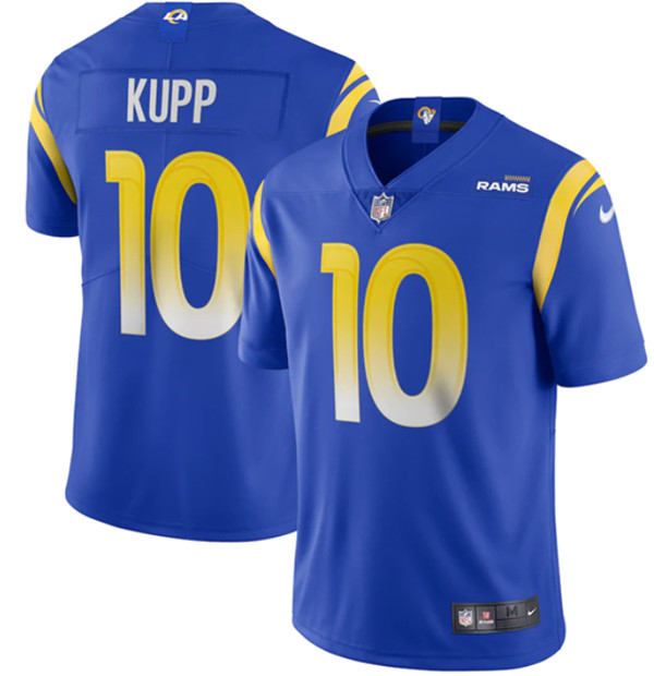 Men's Los Angeles Rams #10 Cooper Kupp 2020 Royal Vapor Limited Stitched Jersey