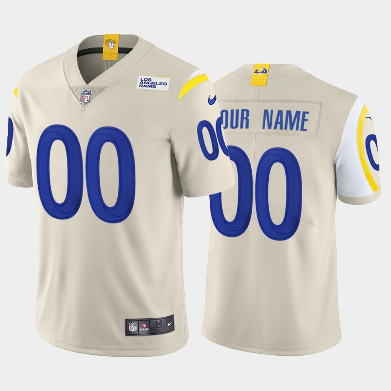 Men's Los Angeles Rams ACTIVE PLAYER Custom 2020 New Bone Vapor Untouchable Limited Stitched NFL Jersey