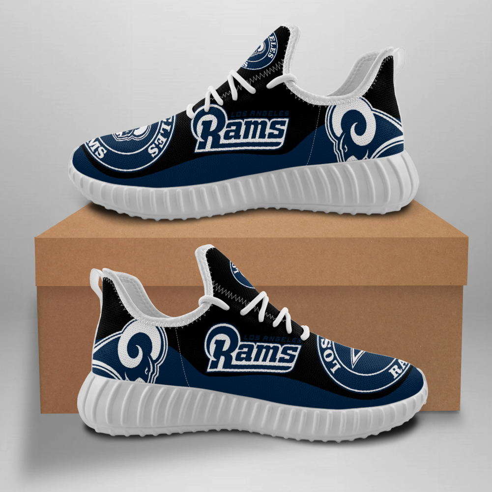 Men's NFL Los Angeles Rams Mesh Knit Sneakers/Shoes 002