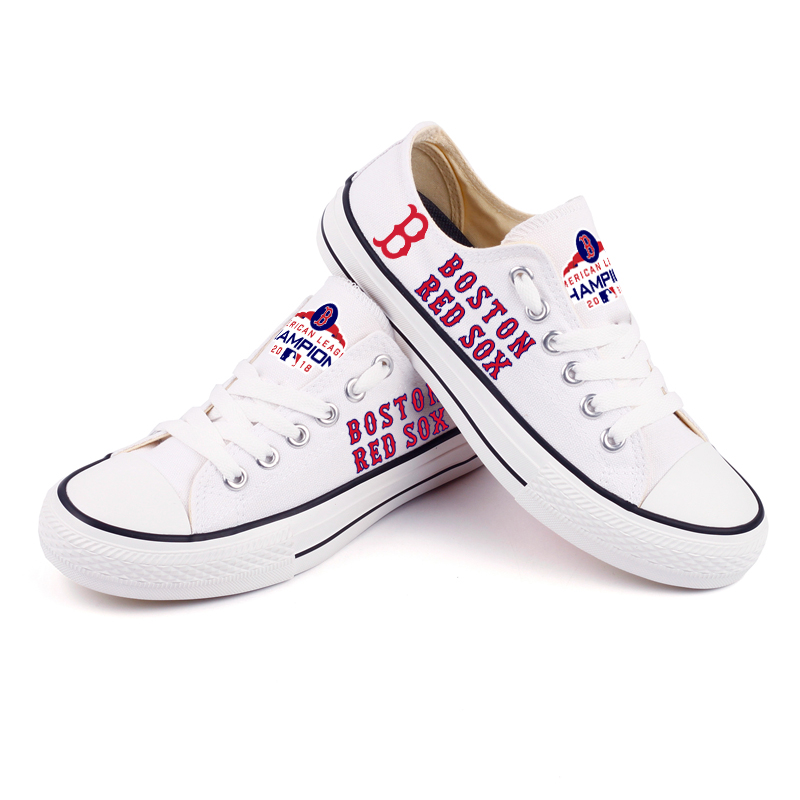 Women's Boston Red Sox Repeat Print Low Top Sneakers 006