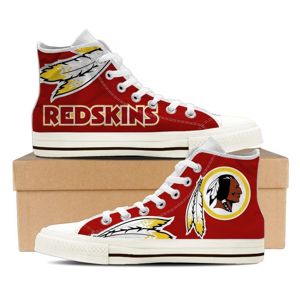 Women's NFL Washington Redskins Repeat Print High Top Sneakers 002