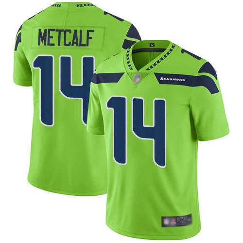 Men's Seattle Seahawks #14 D.K. Metcalf Green Vapor Untouchable Limited Stitched NFL Jersey