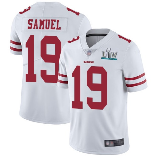 Men's San Francisco 49ers #19 Deebo Samuel White Super Bowl LIV Vaper Untouchable Limited Stitched NFL Jersey