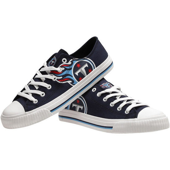 Women's NFL Tennessee Titans Repeat Print Low Top Sneakers 002