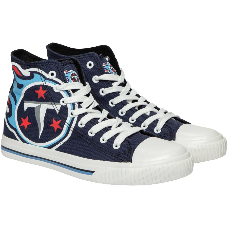 Women's NFL Tennessee Titans Repeat Print High Top Sneakers 003