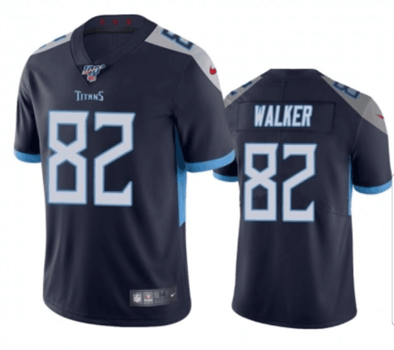 Men's Tennessee Titans #82 Delanie Walker Navy 2019 100th Season Vapor Untouchable Limited Stitched NFL Jersey