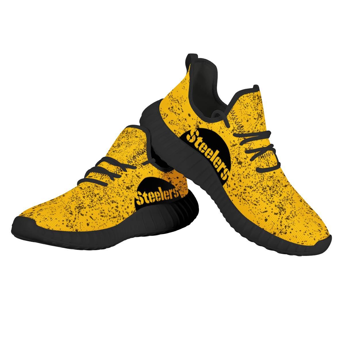 Women's Pittsburgh Steelers Mesh Knit Sneakers/Shoes 019