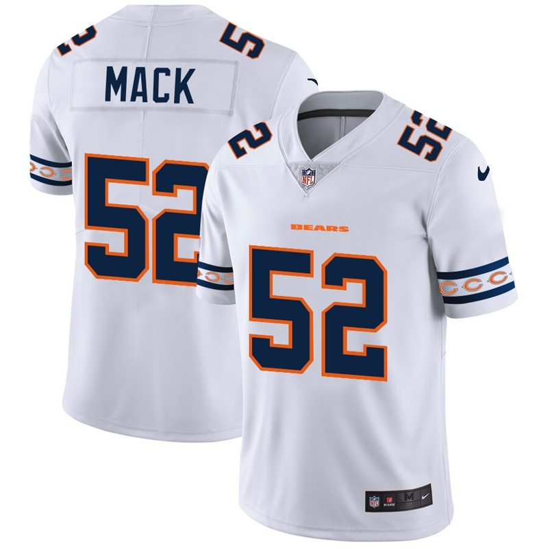 Men's Chicago Bears #52 Khalil Mack White 2019 Team Logo Cool Edition Stitched NFL Jersey