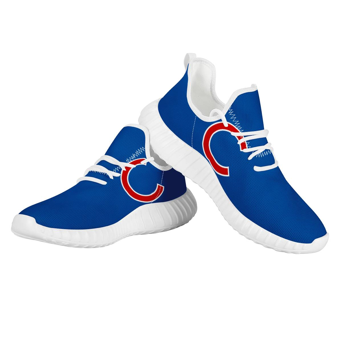 Men's Chicago Cubs Mesh Knit Sneakers/Shoes 010